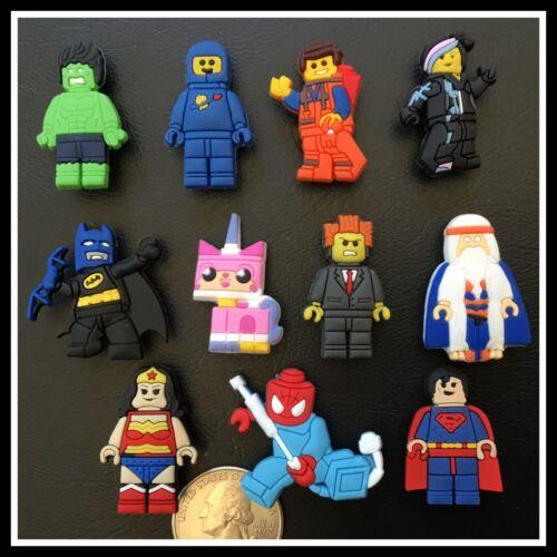 11 Shoe Charms for Crocs LEGO MOVIE Emmet Business Spiderman Hulk Batman
