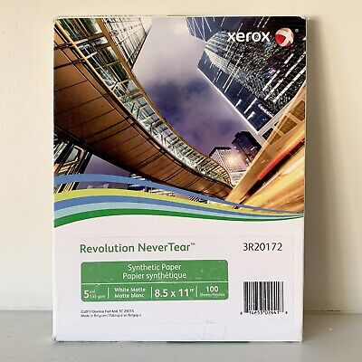 Xerox Revolution Performance Never Tear Paper 5 Mil 8 12 X 11 White 100 Sht