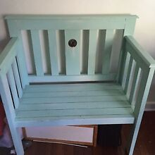 Shabby Chic Wooden Bench Seating Indoor Outdoor Furniture Chair Prahran Stonnington Area Preview