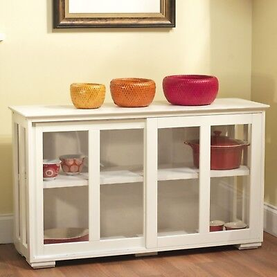 NEW Kitchen Island Slow-witted Storage Cabinet Cooking Cutting White Doors More Space
