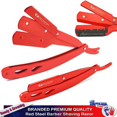 Men's Shaving Hair Razors Salon Barber Hair Shaper Folding Knife Red Steel