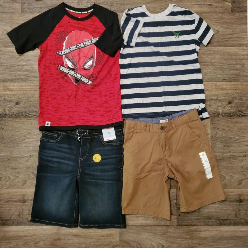 4 pc Lot BOYS Size 8 10 12 14 Clothing shirts shorts Cat and Jack