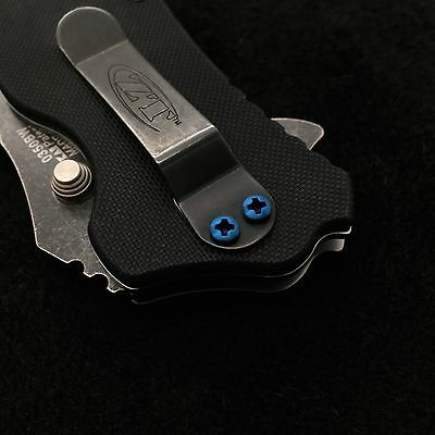 Blue Titanium [> Screw Set <]   Zero Tolerance 350 Hinderer  ZT0350 (NO KNIFE) (Blue Titanium)