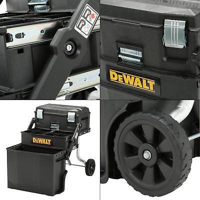 Box Utility Cart - NEW DeWALT Black Utility Rolling Portable Toolbox Cart Chest Tool-Storage-Box