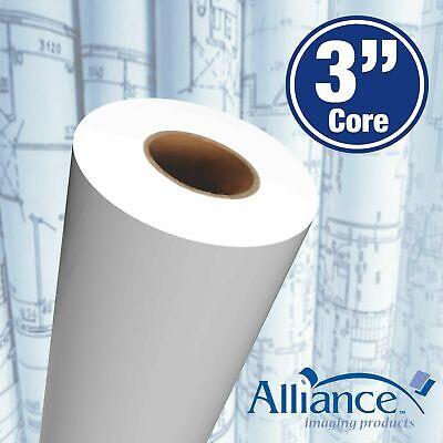 Alliance Paper Rolls Bond Engineering 36x500x3 92 Bright 20lb 2 Rolls
