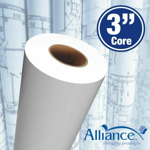 """Alliance Paper Rolls, Bond Engineering, 36""""x500'x3"""", 92 Bright, 20lb, 2 Rolls"""