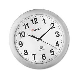 Lorell  LLR60996 Radio Controlled Arabic Numeral Analog Wall Clock, Daylight ...