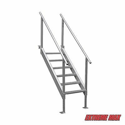 Extreme Max™ Universal Mount Aluminum Dock Stairs, 6 Step