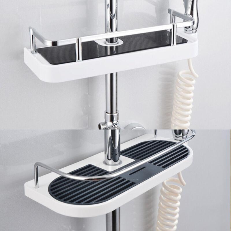 Duschablage Duschkorb Duschregal Badregal Badablage für Duschstange ohne Bohren