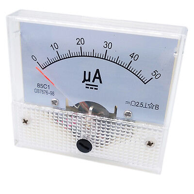 Us Stock Dc 050ua Class 1.5 Accuracy Analog Amperemeter Panel Meter Gauge 85c1