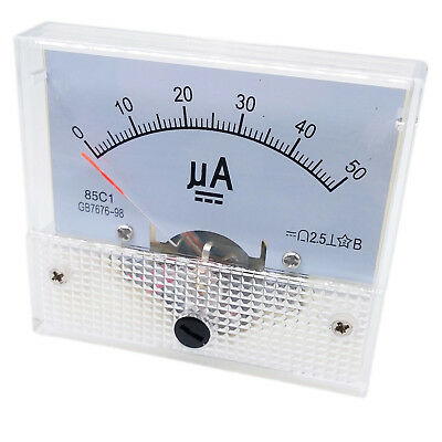 Us Stock Dc 050ua Class 2.5 Accuracy Analog Amperemeter Panel Meter Gauge 85c1