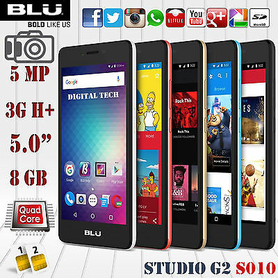 Blu Studio G2 S010q Android 6 0   3G H  5 0  Hd 8Gb 5 0Mp Unlocked Gsm Phone
