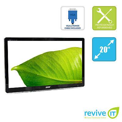 "Acer S200HQL 20"" 1600x900 16:9 Widescreen LED Monitor VGA Grade A - Monitor Only"