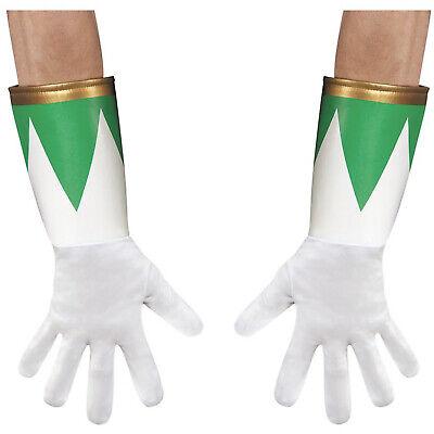 Adult Green Mighty Morphin Power Ranger 90's Halloween Costume Gloves -