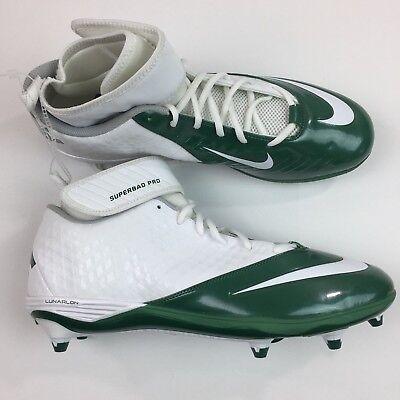 8e7e403d63e293 Men s Nike Superbad Pro Football Cleats White Green Size 14.5 511328114