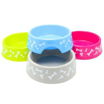 - Pet Dog Cat Food Feeding Water Dish Bowl Plastic Plate Bowl with Bones 20 oz
