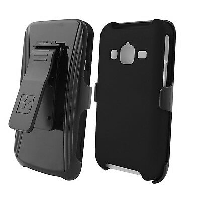 For Samsung Galaxy Rugby Pro i547 Protective Snap On Slim Belt CLIP Case BLACK
