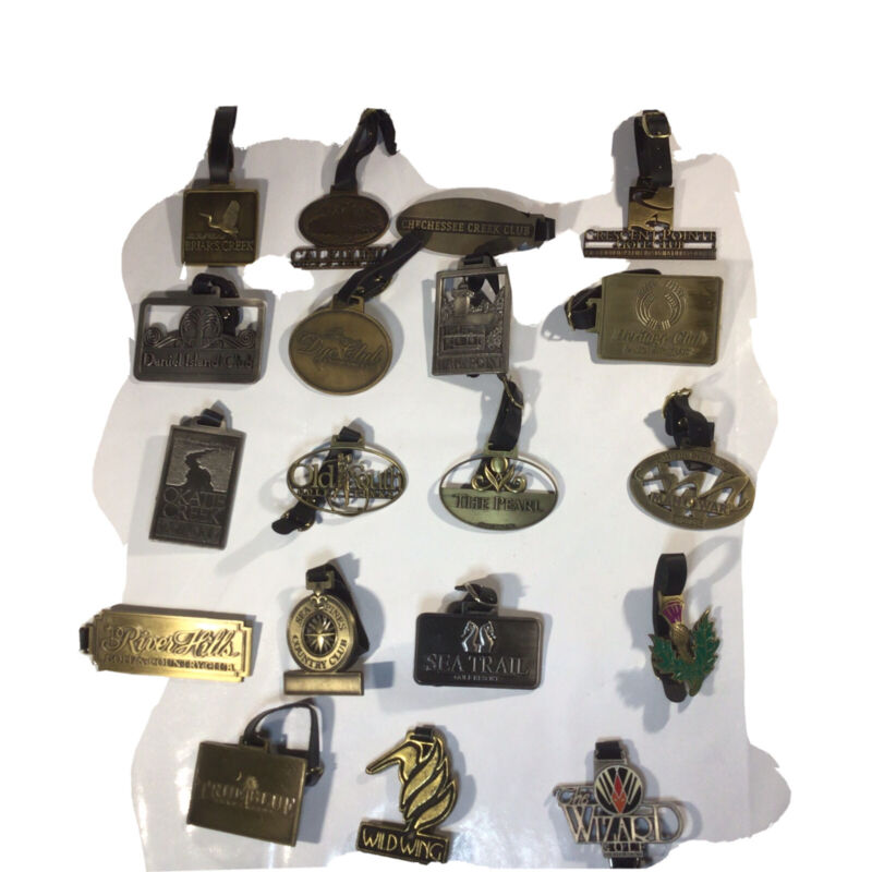 GOLF BAG TAGS FROM SOUTH CAROLINA GOLF COURSES Lot of 19 (Course List Below)