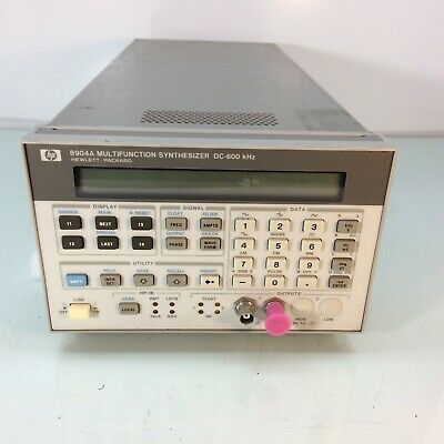 Hp Agilent 8904a Multifunction Synthesizer Dc 600khz W Opt 001 005