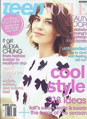 Teen Vogue magazine Alexa Chung Cool style Fall coats Knits Boots Dakota Fanning