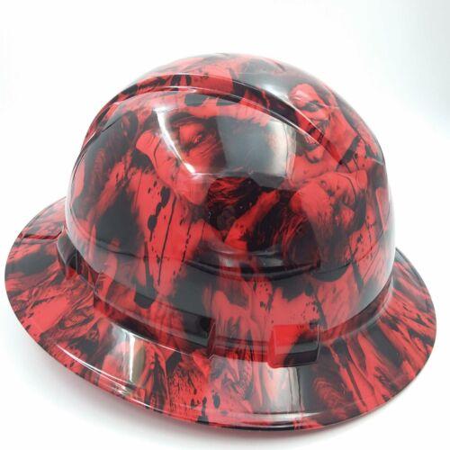 FULL BRIM Hard Hat custom hydro dipped , NEW RED SINISTER JOKER WICKED HOT NEW 1