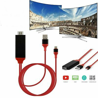 1080P Lightning to Digital AV TV HDMI Cable Adapter For iPad iPhone X 8 7 11 SE