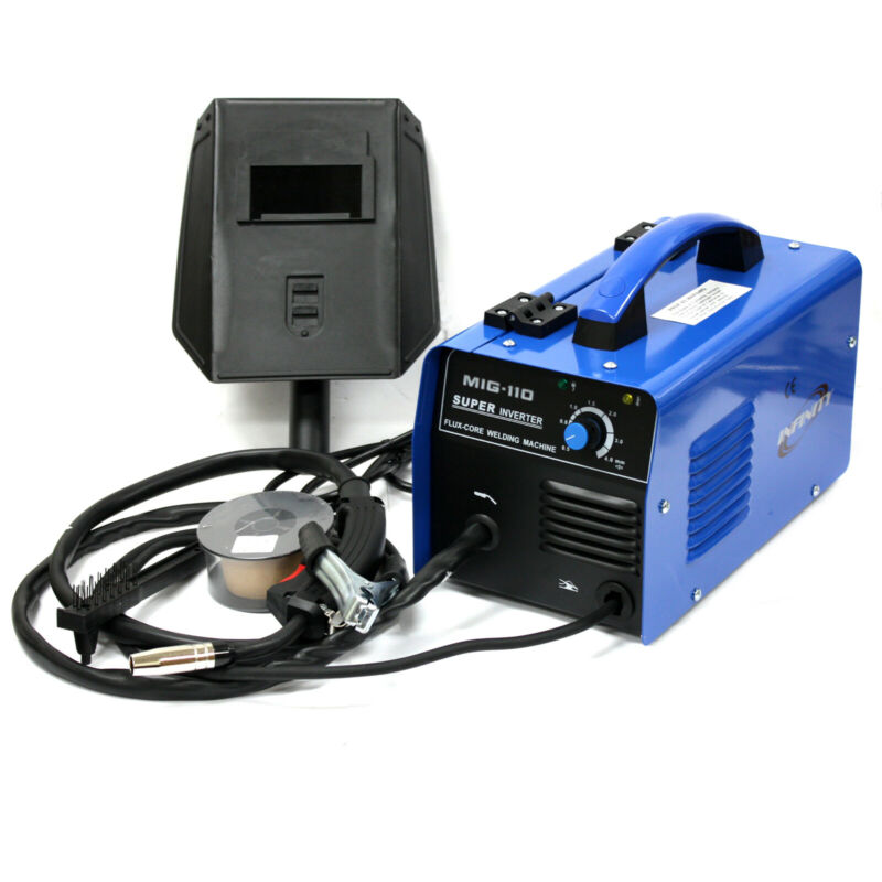 110V MIG-110 Inverter Flux Core Welder 30-100A Gasless Auto Feed Welding Machine