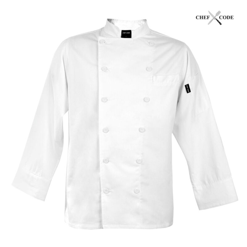 Chef Code Tailored Slim Fit Executive Chef Coat, Unisex CC114