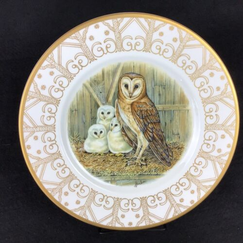 """EDWARD MARSHALL BOEHM Owl Plate Collection BARN OWL Perfect Condition 10.75"""""""