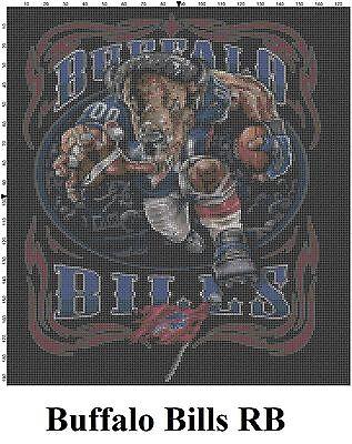 - NFL Buffalo Bills Mascot cross stitch pattern