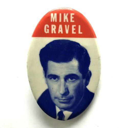 Vintage Campaign Pinback Button Mike Gravel Senate 1968