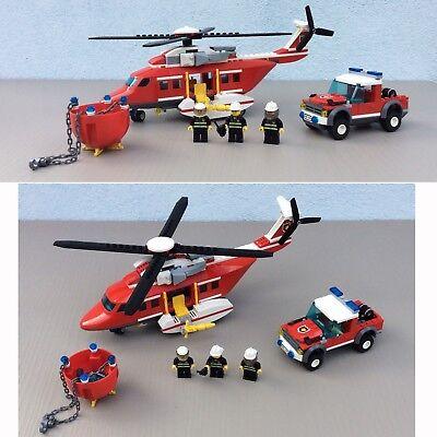 LEGO CITY - 7206 - Fire Helicopter - POMPIER - SET- JOUETS - BRIQUES