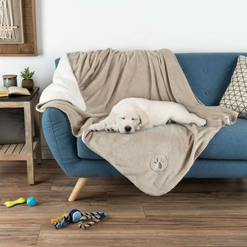 Waterproof Pet Throw 50 x 60 Inch Bed Couch Protect Furniture Dog Blanket Tan