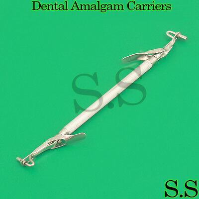2 Pcs Dental Amalgam Carriers Surgical Medical Instruments