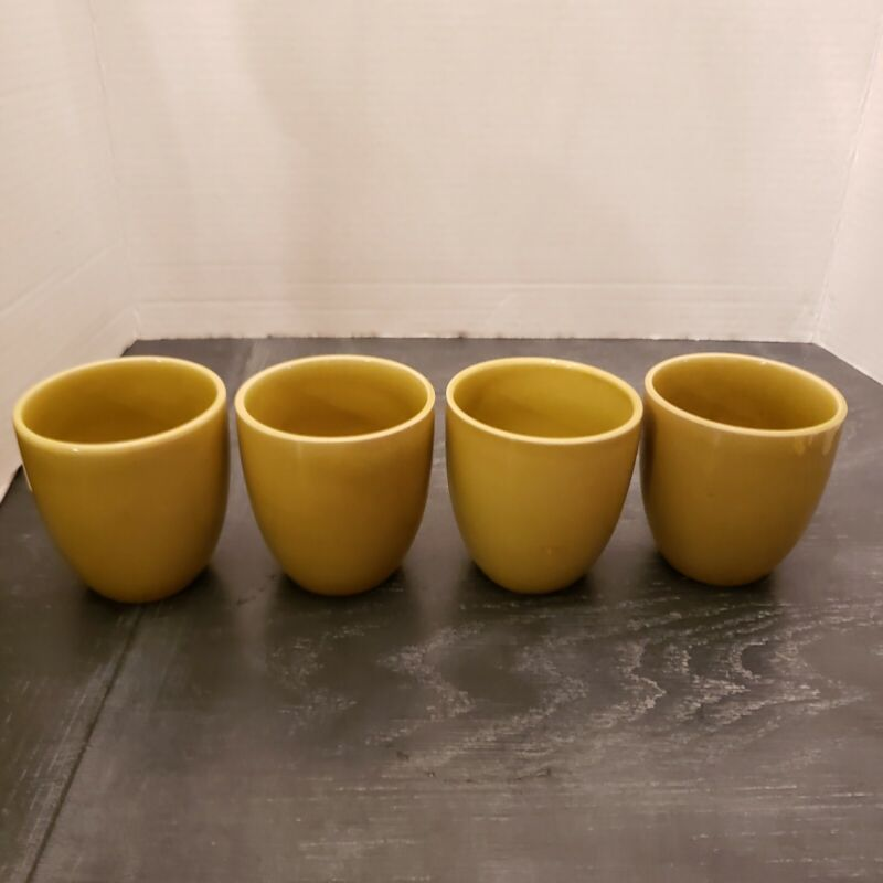 Vintage Russel Wright 4 Tumbler Cup - CHARTREUSE American Modern by Steubenville
