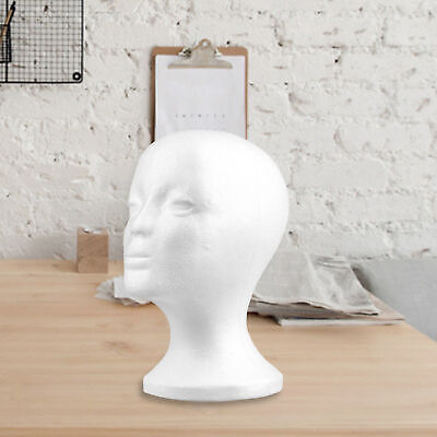 Practical Foam Female Mannequin Head Wigs Glasses Display Holder Stand