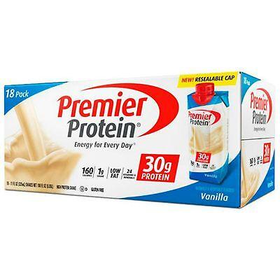 Premier Nutrition 18 Pk Vanilla Ready Drink 30 Gram High ...