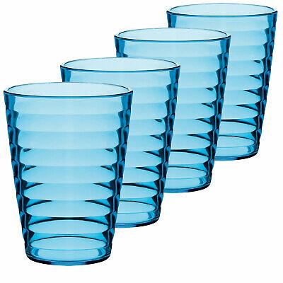 Camping Glas Trinkglas 4 Gläser Sekt Glas Party Wein Kunststoff Glas Set 350 ml