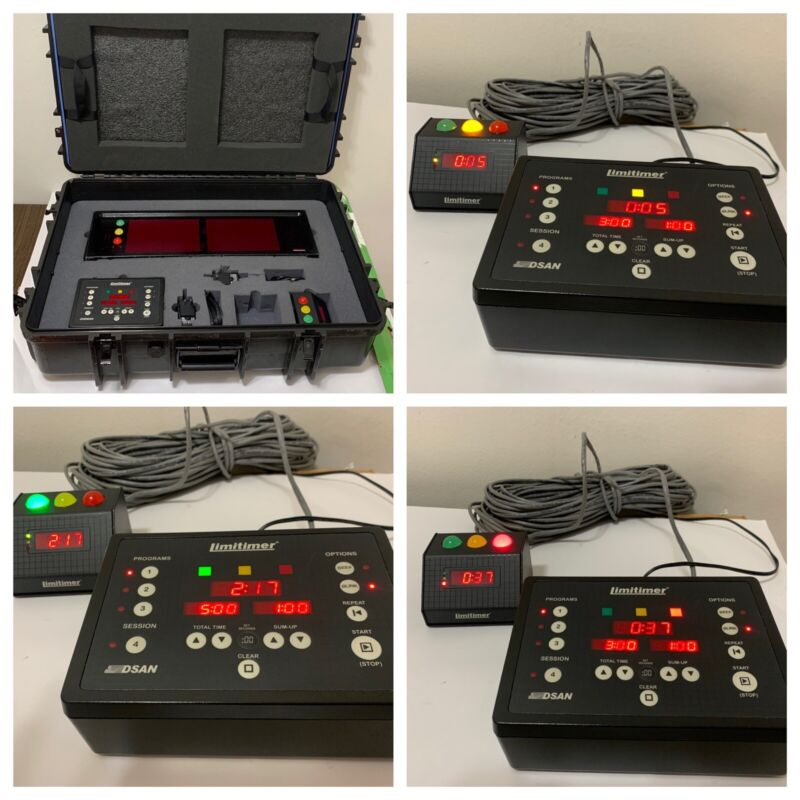"DSAN Limitimer Staging Kit Pro-2000 (used)Case/podium Light/controller/4""display"