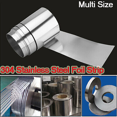 304 Stainless Steel Foil Sheet Metal Plate Thick 0.005mm-0.4mm Strip Panel 15m