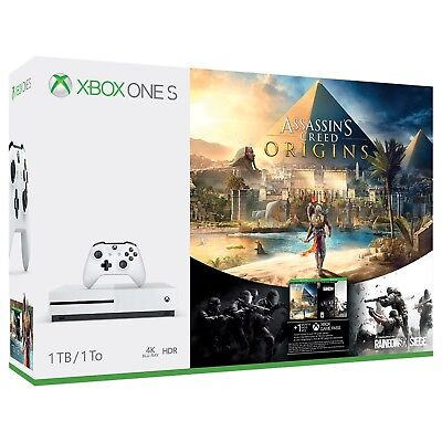 Xbox One S Assassin S Creed  Origins Bonus Bundle 1Tb Gaming Console 4K Gift