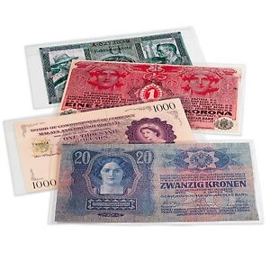 10-Premium-Polyester-Museum-Grade-Large-Mylar-Currency-Sleeves-8-1-4-x-4-7-8