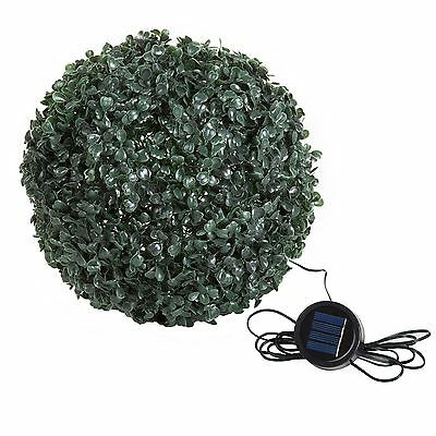 (Pure Garden 10 Inch Topiary Outdoor Solar Light Plant Ball 20 White LED Lights)