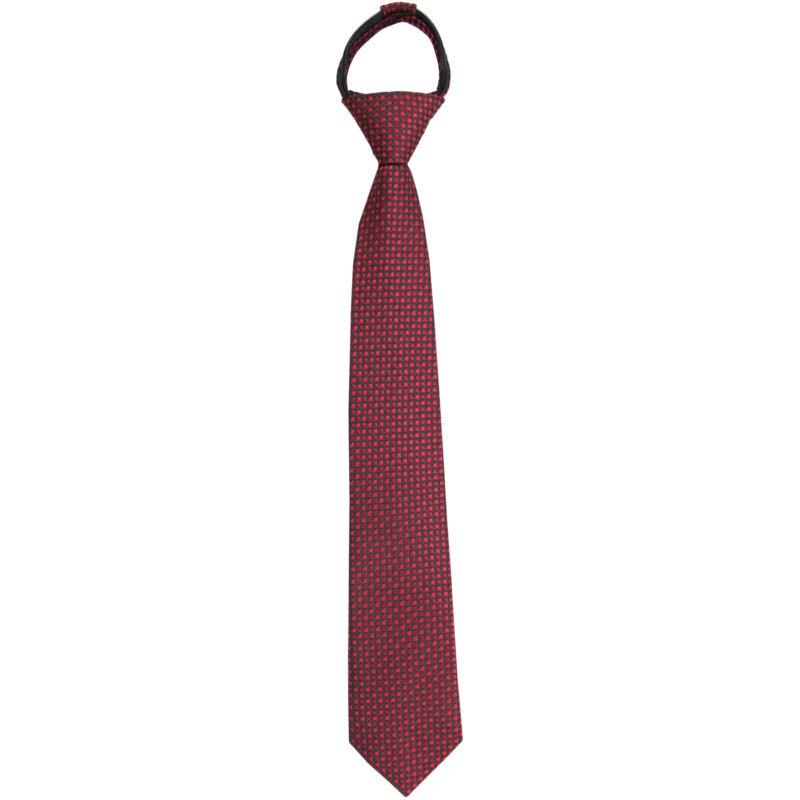 New Kids Boys Zipper Adjustable Pre-tied Necktie Black Red Dots formal wedding