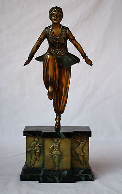 ORIGINAL CHIPARUS ORIENTAL DANCER BRONZE STATUE FROM CHRISTIES AUCTION HOUSE