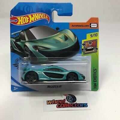 SHORT CARD * McLaren P1 * Teal * 2020 Hot Wheels Case J * JD22