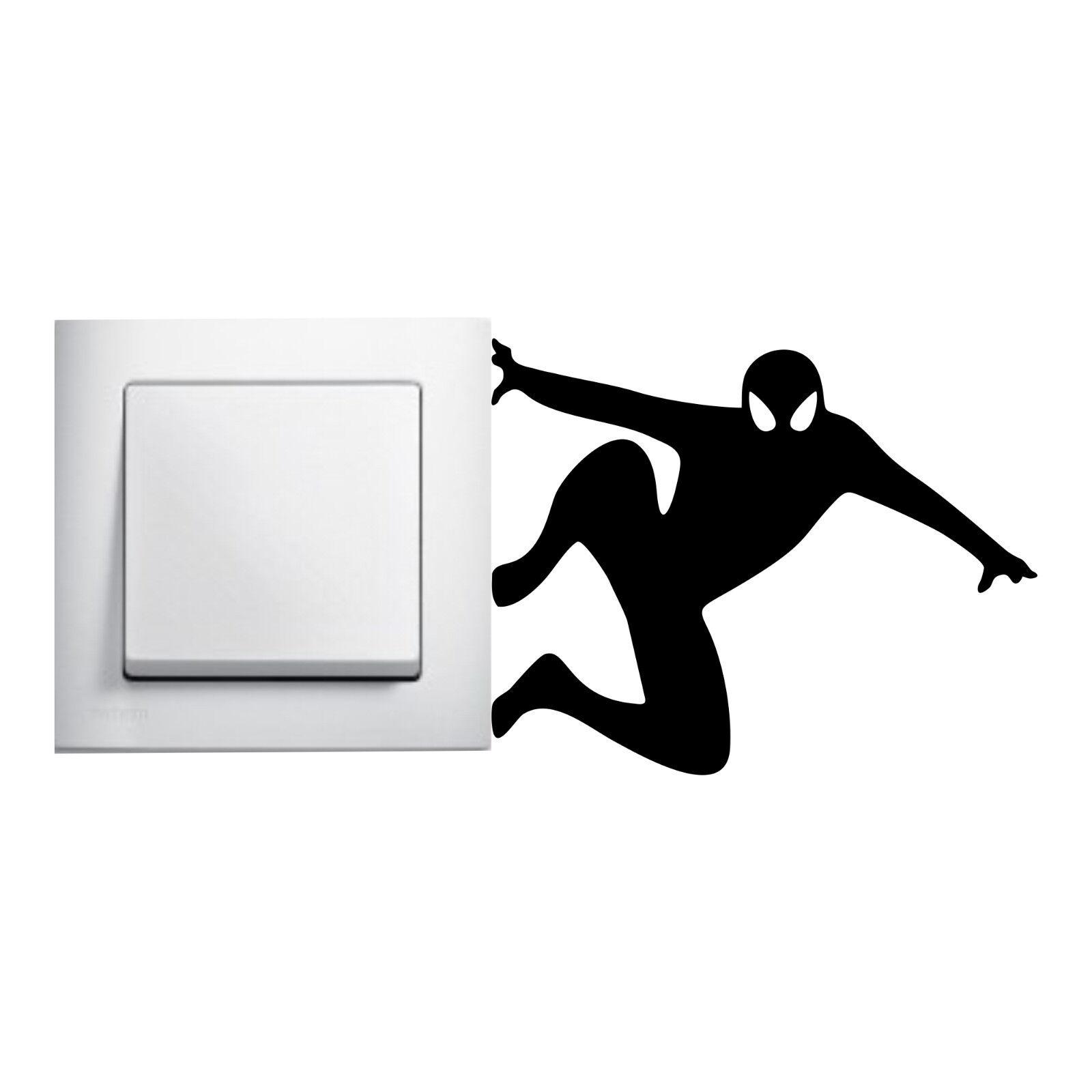 Spiderman Aufkleber Lichtschalter Kinderzimmer Wandtattoo