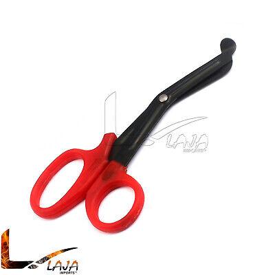 Utility Scissors 5.5 Fluoride Coated Medical Paramedic Bandage Nurse Red