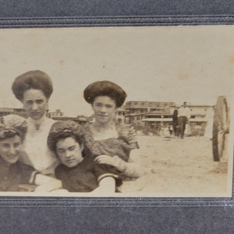 Antique Victorian ladies late 1800s NJ New Jersey shore cabinet card photo