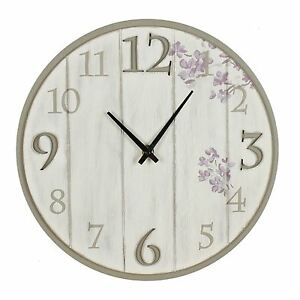 Shabby Chic Effect Wooden Wall Clock Home Living by Juliana